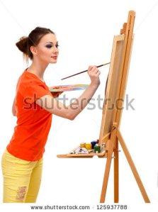 beautiful-young-woman-painter-at-125937788