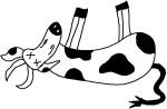 clipart dead cow