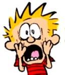 Calvin Horror Faces