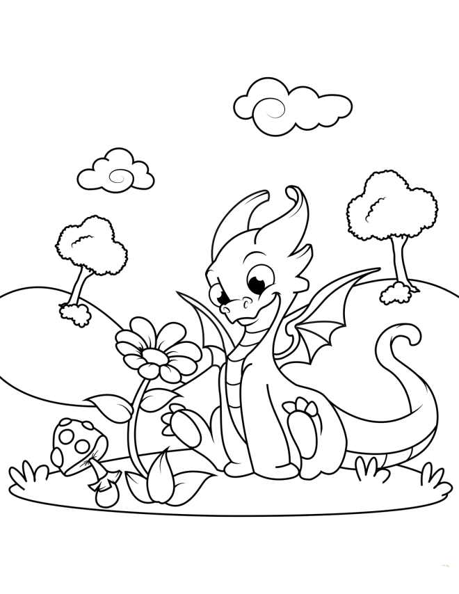 Dragon And Flower