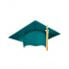 Emerald Green Grad Cap