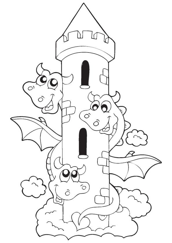 funny-dragon-tower-printable